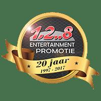 1,2..8 128 promotie logo ruim 20 jaar