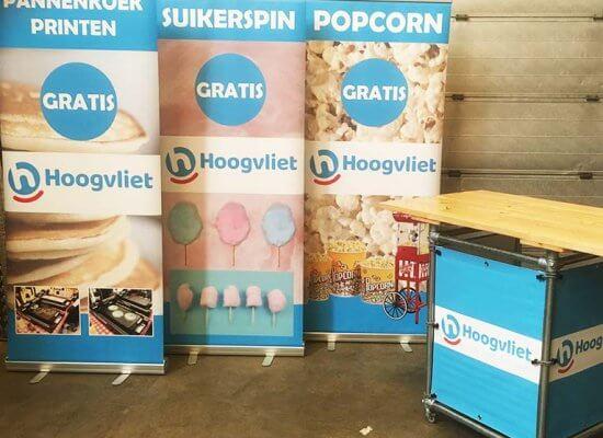 Branding voor Hoogvliet Supermarkt