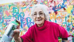Graffiti ouderen actie